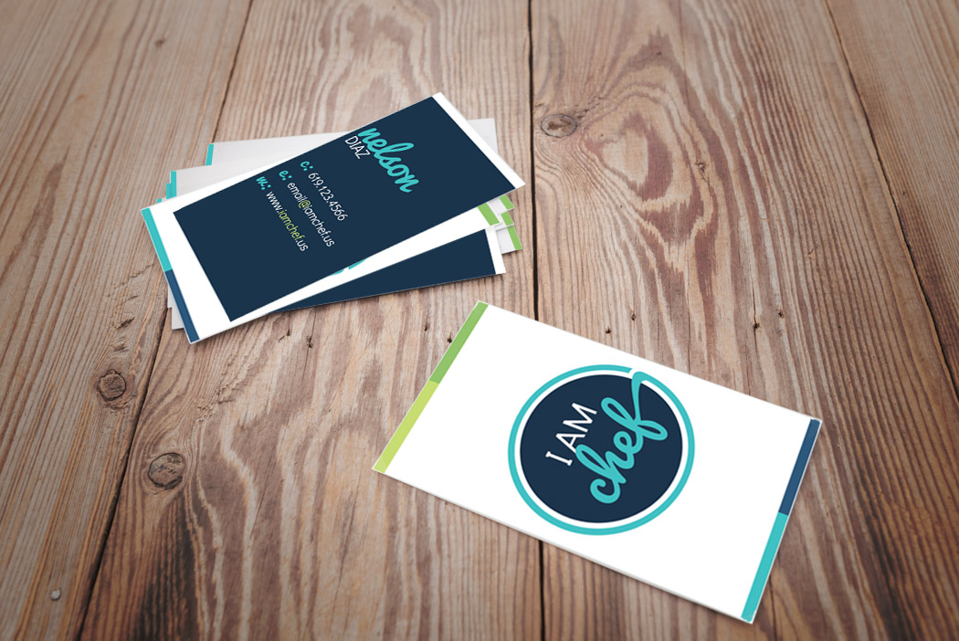 San Diego Business Card Design - I Am Chef