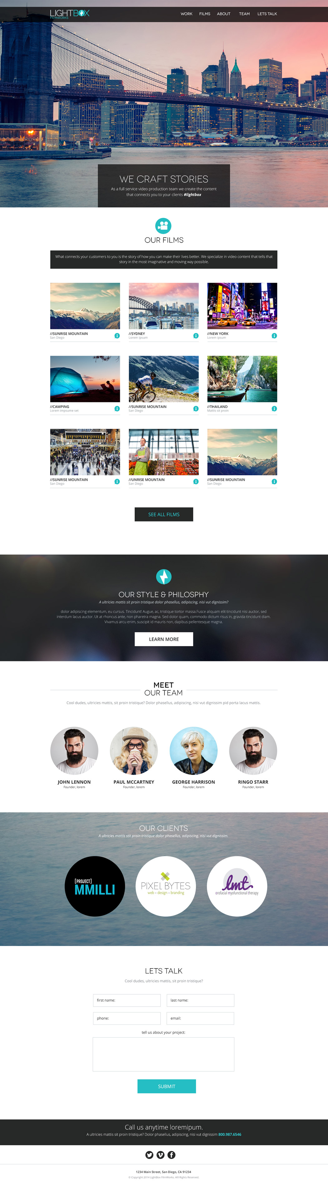 San Diego Website Design - Lightbox Filmworks