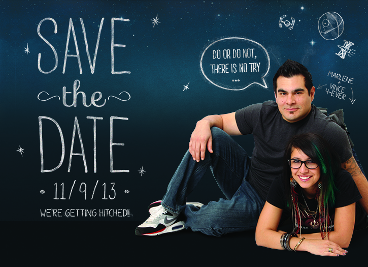 San Diego Wedding Save-the-Date Design - Vince & Mars