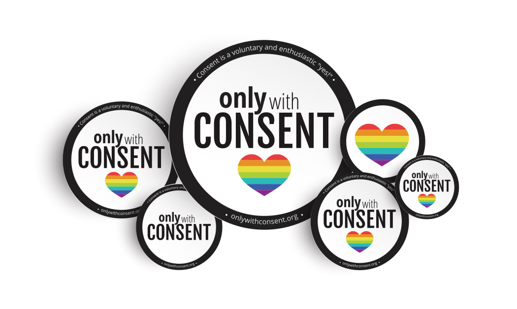 San Diego Sticker Branding Design - Only With Consent