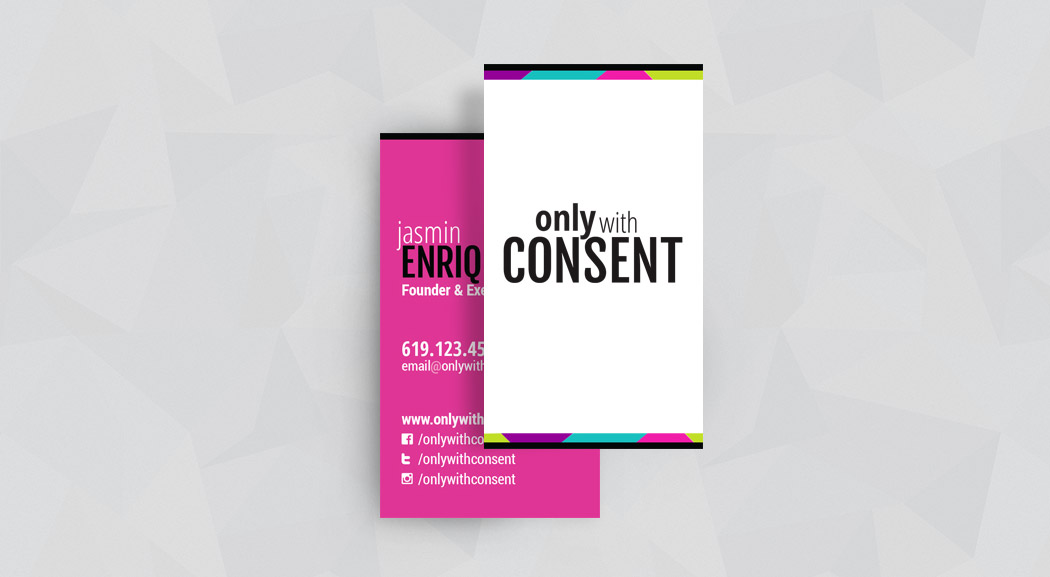 San Diego Business Card Design - Only With Consent