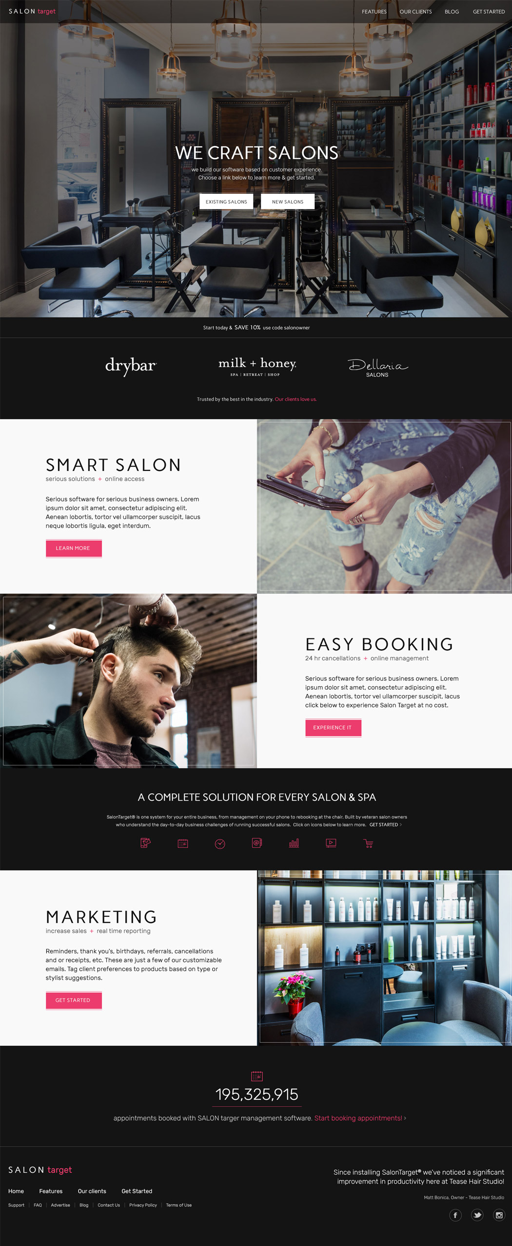 San Diego Website Design - Salon Target