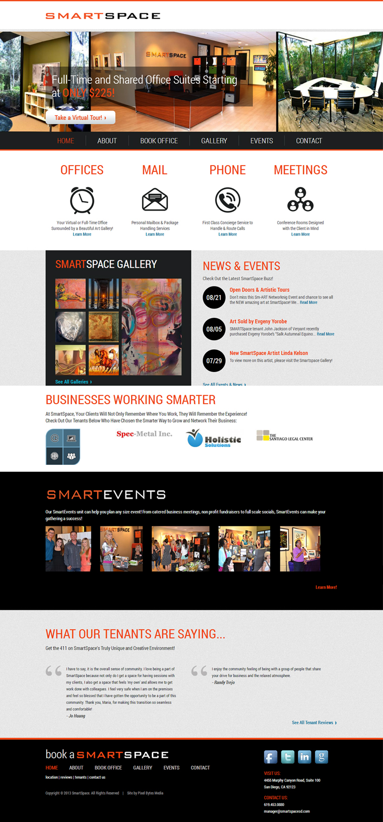 San Diego Website Design - SmartSpace