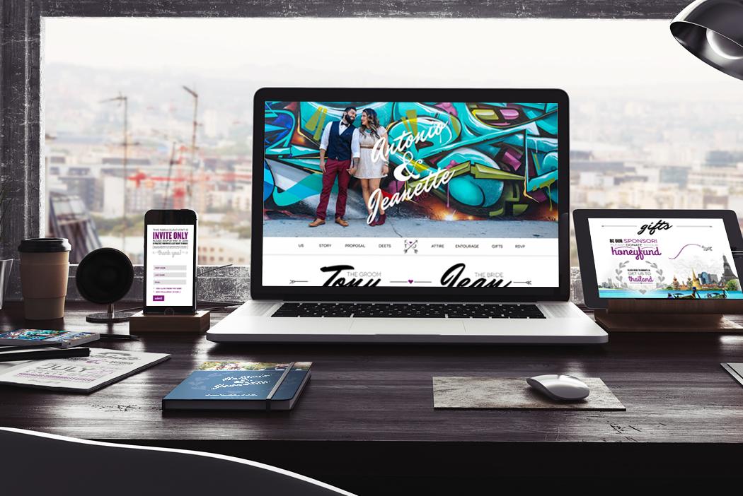 San Diego Wedding Website Design - Tony & Jean