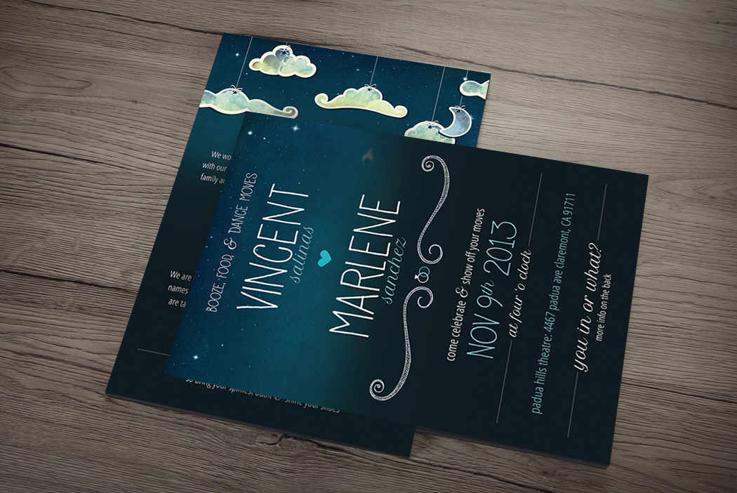 San Diego Wedding Invitation Design - Vince & Mars