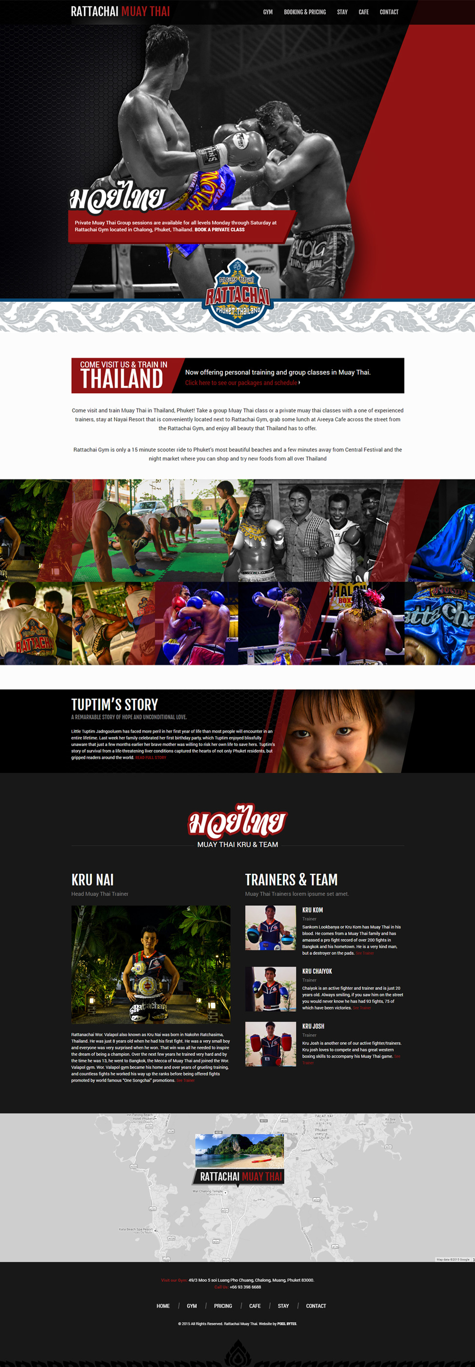 Thailand Website Design - Rattachai Muay Thai
