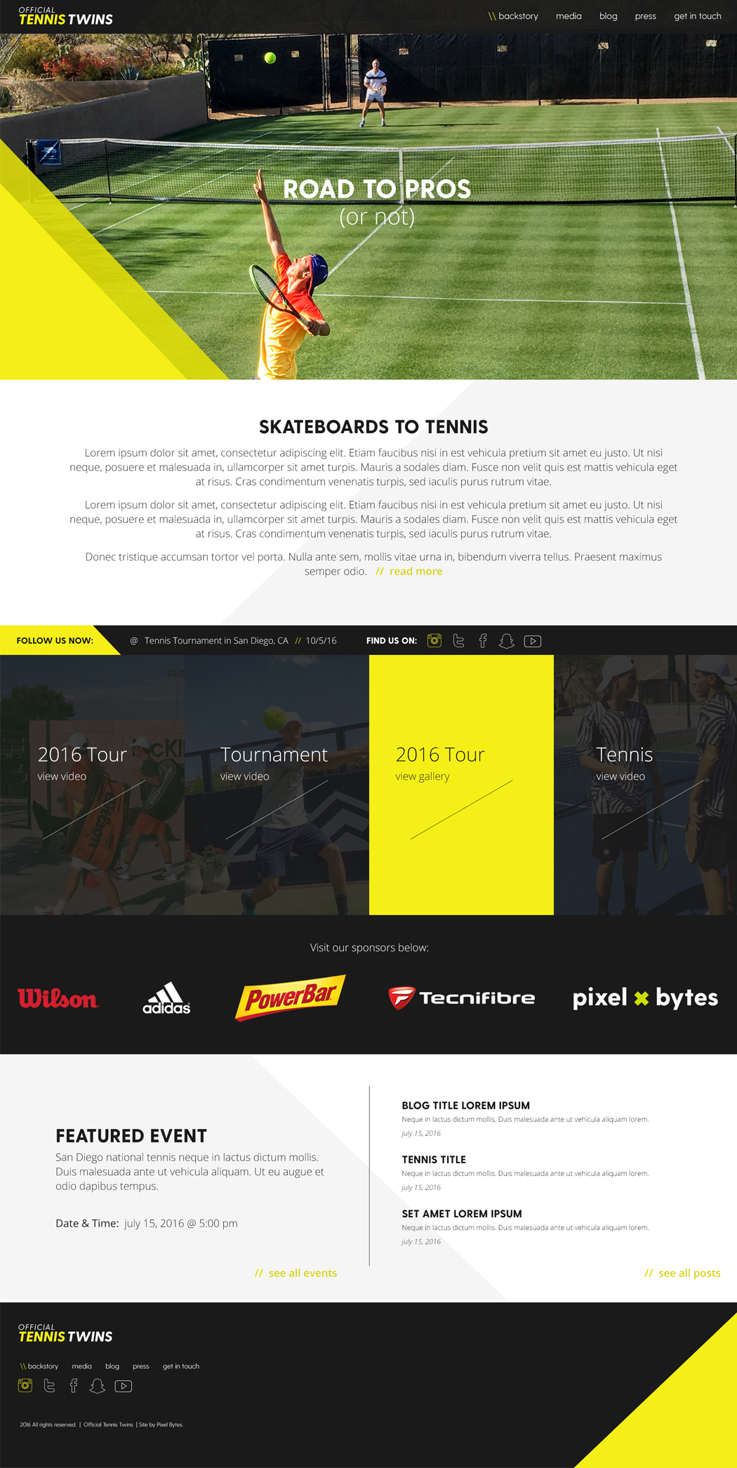 San Diego Website Design - Tennis Twins