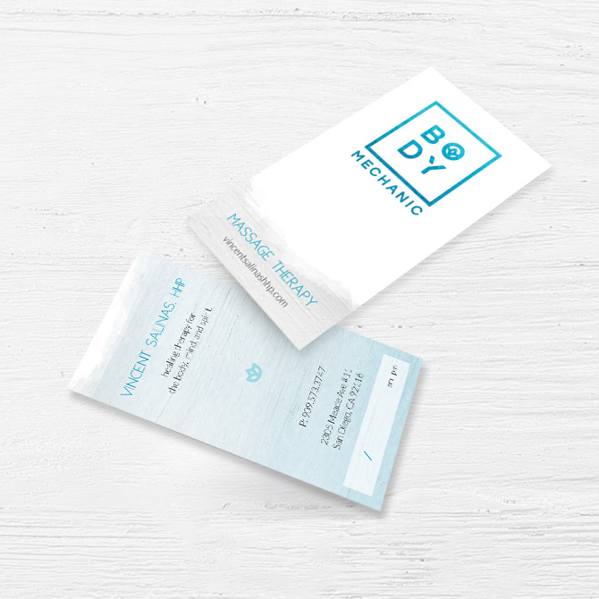 Business Cards for Body Mechanic